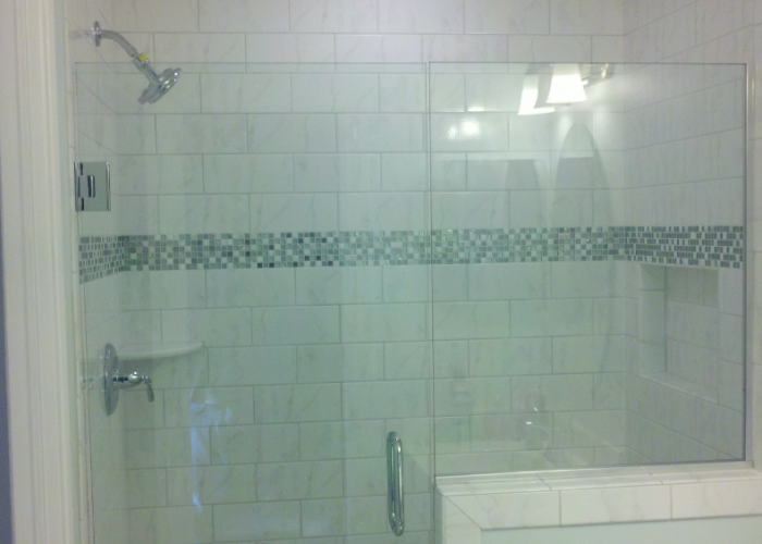 Custom Shower with Glass Door