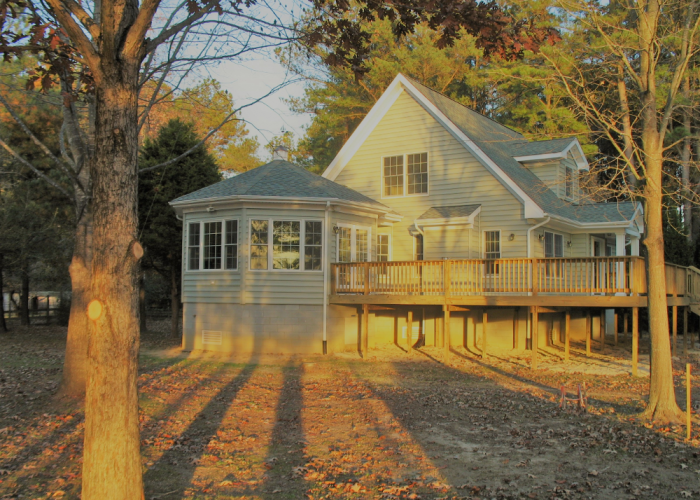 Exterior Sunroom and Back Deck